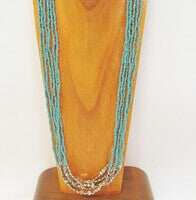 Seed Bead Necklace from Bali, Perfect for Club, Resort Wear
