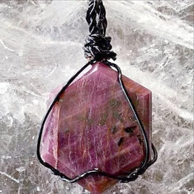 Ruby Pendant With Zoisite - Deep Red For Sale New Earth Gifts