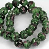 Ruby Zoisite Power Bracelet for Passion and Release-10mm - New Earth Gifts