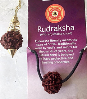 Rudraksha Pendant and Pendulum Gift Set - New Earth Gifts and Beads