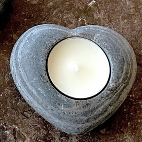 Sandstone Heart Shaped Tealight Holders | New Earth Gifts