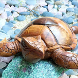 Wood Hand Carved Sea Turtle - New Earth Gifts and Beads
