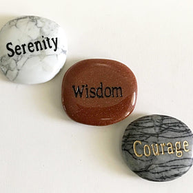 Serenity Prayer Message Stone Set - New Earth Gifts