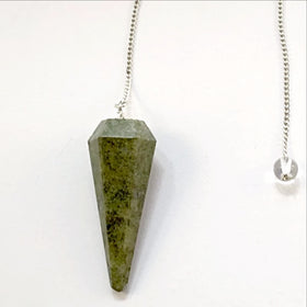 Serpentine Faceted Pendulum - New Earth Gifts