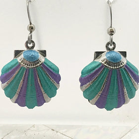 Scallop Shell Earrings Cute Beachy Jewelry - New Earth Gifts