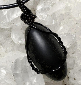 Black Shiva Lingam Pendants - New Earth Gifts