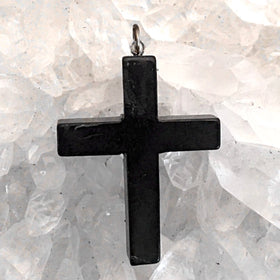 Shungite Cross Pendant - New Earth Gifts