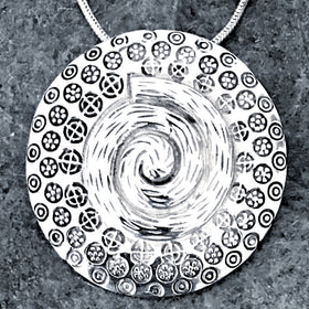 Sterling Silver Spiral Life Force Slide Pendant - New Earth Gifts