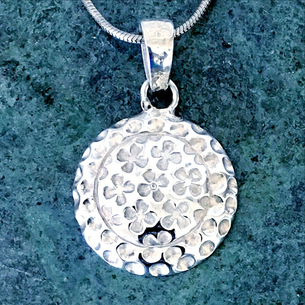 Sterling Silver Four Leaf Clovers Pendant - New Earth Gifts