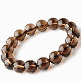 Smoky Quartz Power Bracelet for Protection and Stress Relief-6mm - New Earth Gifts