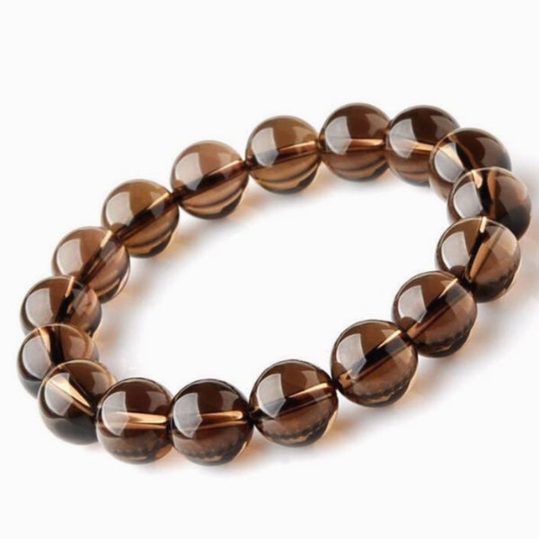 Smoky Quartz Power Bracelet for Protection and Stress Relief-8mm -  New Earth Gifts