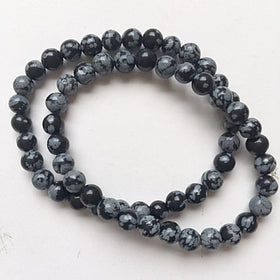 snowflake obsidian bracelet - new earth gifts