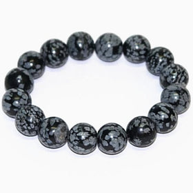 Snowflake Obsidian Power Bracelet for Harmony and Balance-8mm - New Earth Gifts