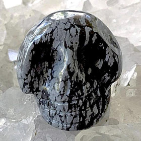 Snowflake Obsidian Gemstone Skull - New Earth Gifts