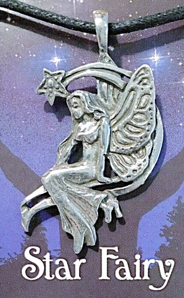 Celestial Pewter Pendant-Star Fairy | New Earth Gifts