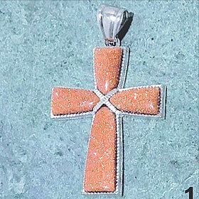 Goldstone Cross Pendant | New Earth Gifts