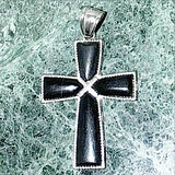 Black Onyx Cross Pendant | New Earth Gifts