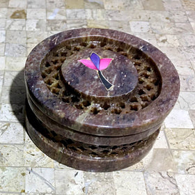 Soapstone Round Trinket Box - New Earth Gifts