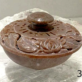 Stone Trinket Bowls - Intricately Carved For Sale New Earth Gifts