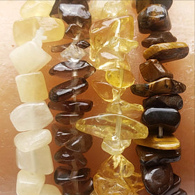 Gemstone Chip Bracelets Sun Colors - New Earth Gifts