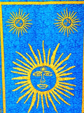 Sun Tapestry - Turquoise Background - New Earth Gifts