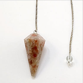 Sunstone Faceted Pendulum - New Earth Gifts