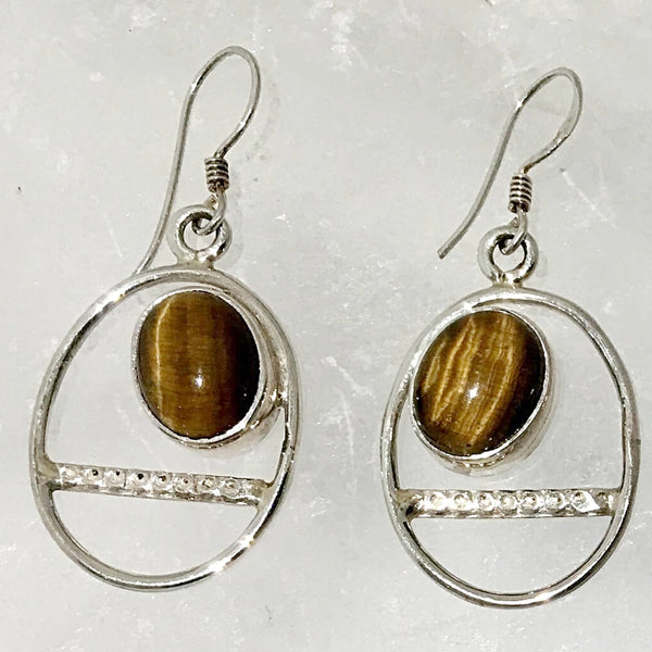 Tiger Eye Trapeze Style Earrings | New Earth Gift