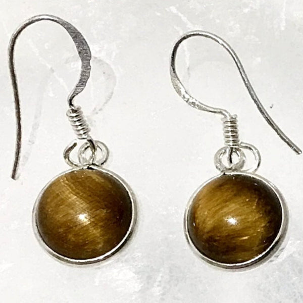 Tiger Eye Dainty Oval Style Earrings | New Earth Gift