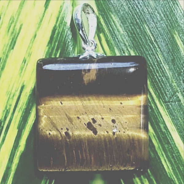 Tiger Eye Square Shaped Pendant - New Earth Gifts