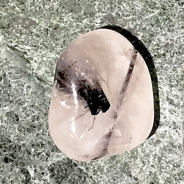 Tourmalinated Quartz 1 pc Tumbled Stone - New Earth Gifts