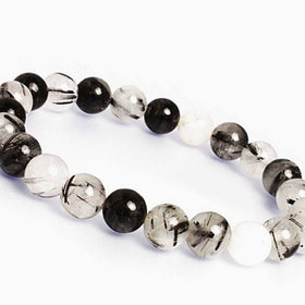 Tourmalinated Quartz Power Bracelet - New Earth Gifts