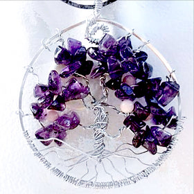 Tree Of Life Gemstone Pendant - Amethyst Crystal For Sale New Earth Gifts