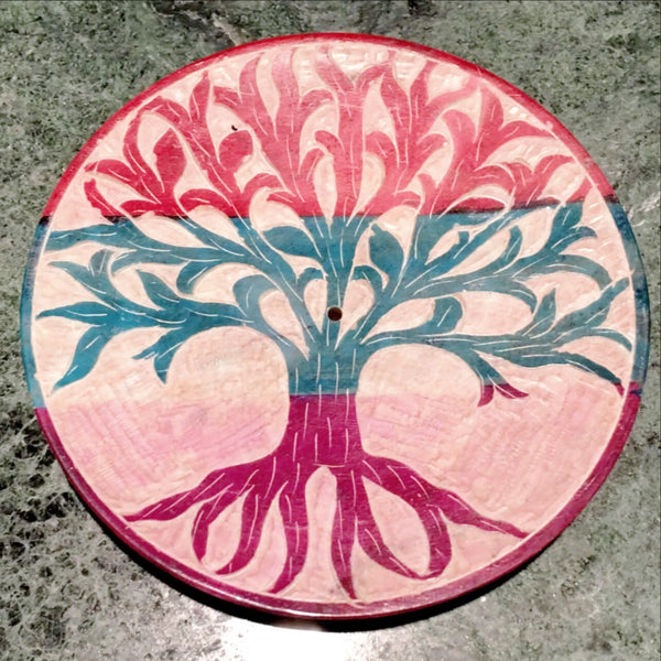 Tree of Life Incense Holder with Incense Sticks - Choice of Incense. The hand carved multi colored ash catcher depicting the Tree of Life is a New Age favorite! New Earth Gifts