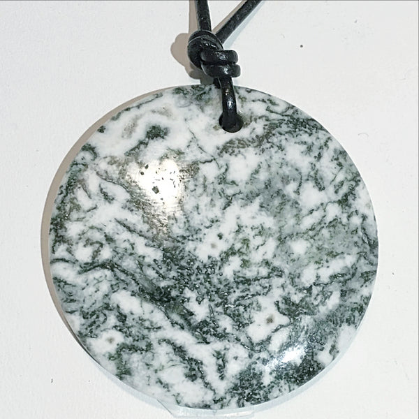 Tree Agate Large Round Pendant - New Earth Gifts