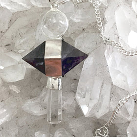 Amethyst Crystal Double Terminated Pendulum - New Earth Gifts