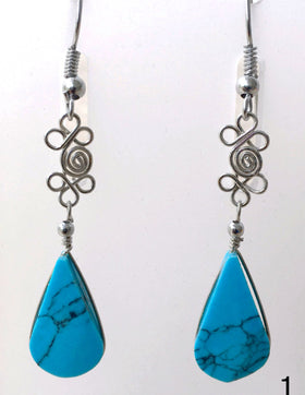 Turquoise Boho Dangling Earrings - New Earth Gifts