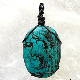 Turquoise Pendant Wire Wrap Southwestern Jewelry - New Earth Gifts
