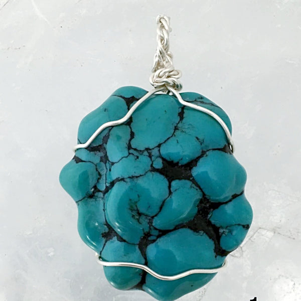 Turquoise Large Natural Pendant - Nevada USA - New Earth Gifts
