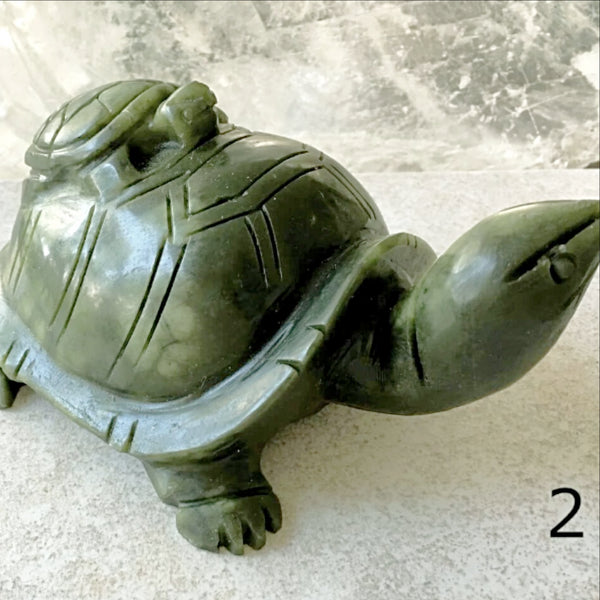 Jade Turtle with Baby - Feng Shui - New Earth Gifts and Beads