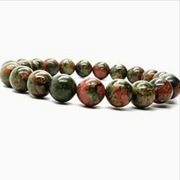 Unakite Power Bracelet for Self Control and Will Power-6mm - New Earth Gifts