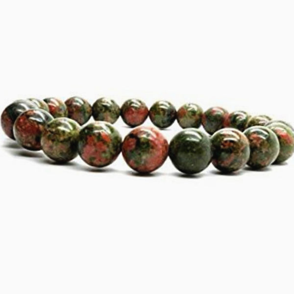 Unakite Power Bracelet for Self Control and Will Power-8mm - New Earth Gifts