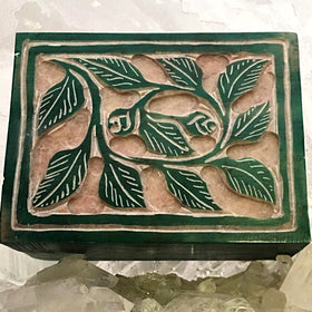 Stone Box with Vines | New Earth Gifts
