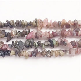 Watermelon Tourmaline Mini Chip Beads - new earth gifts