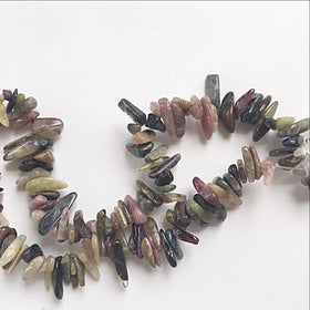 Watermelon Tourmaline Stick Beads - New Earth Gifts