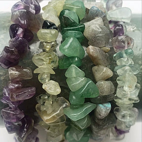 Gemstone Chip Bracelets Cool Colors -  New Earth Gifts