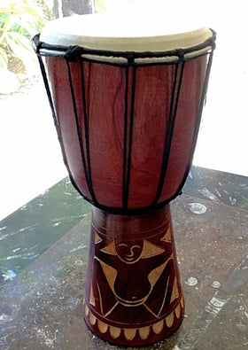 Tribal Wood Drum For Drumming Circle - New Earth Gifts and Beads