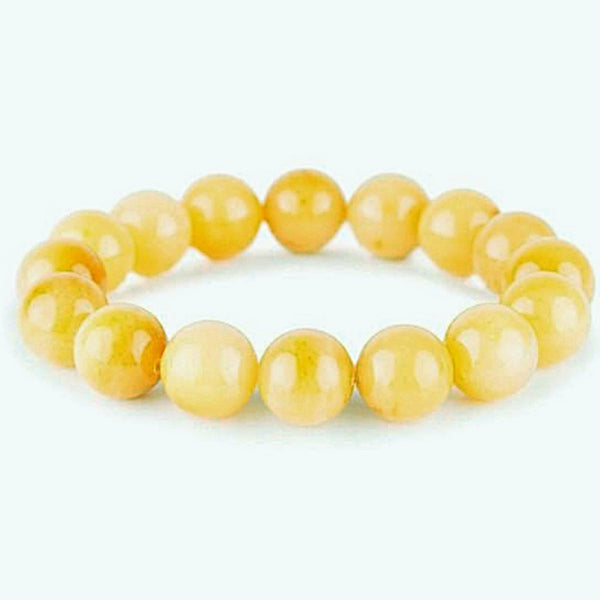 Yellow Jade Power Bracelet for Joy and Success-8mm -New Earth Gifts