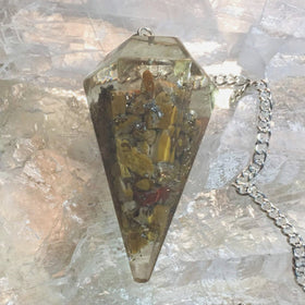 Orgone Chakra Pendulum - Yellow Jasper Solar Plexus -New Earth Gifts