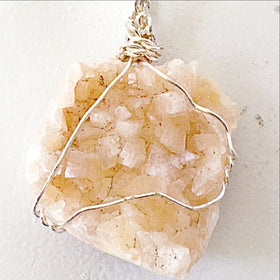 Zeolite Peach Heulandite Pendant - New Earth Gifts