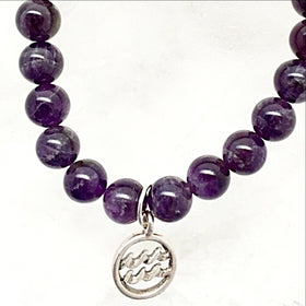 Aquarius Zodiac Charm Bracelet | New Earth Gifts